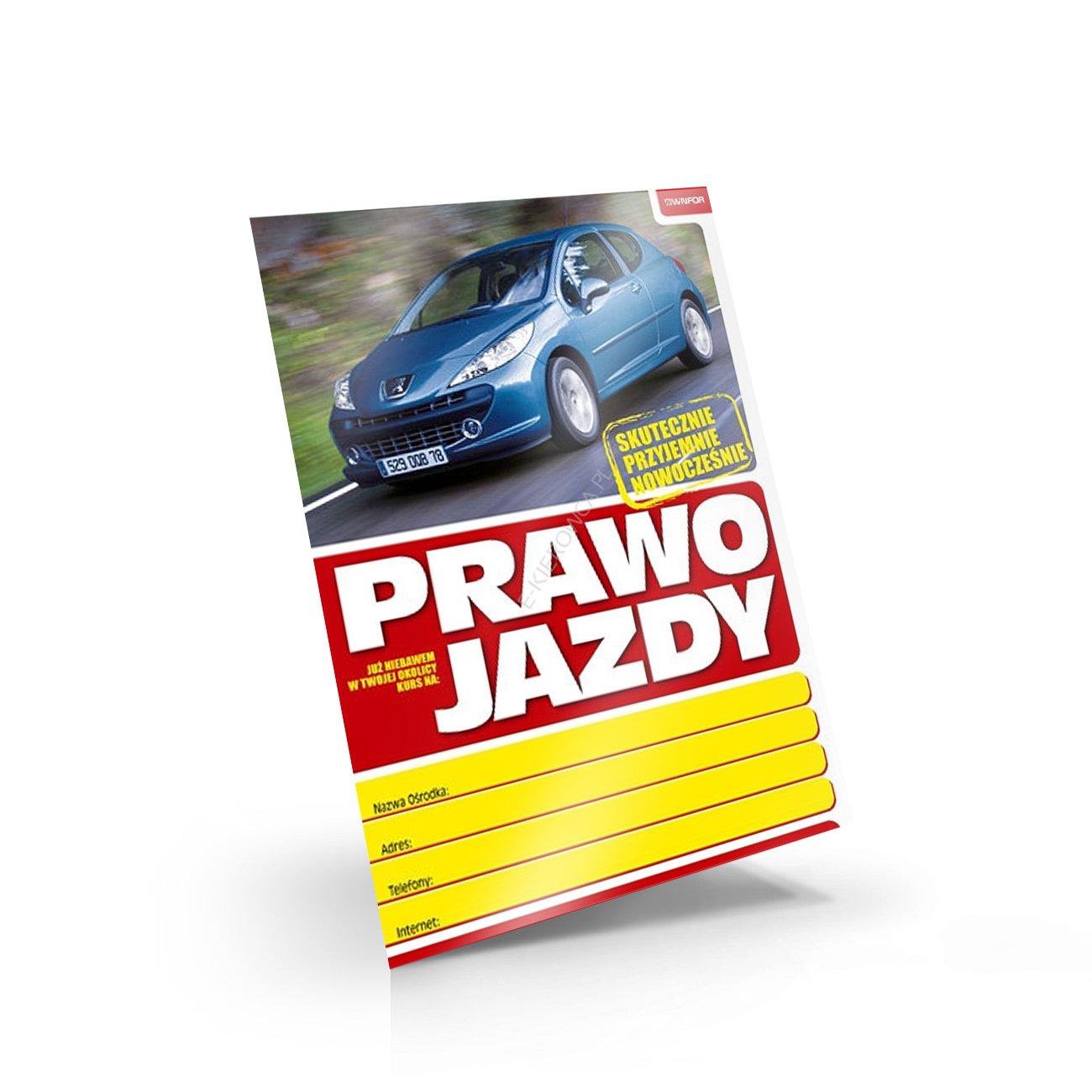 plakat reklamowy PRAWO JAZDY