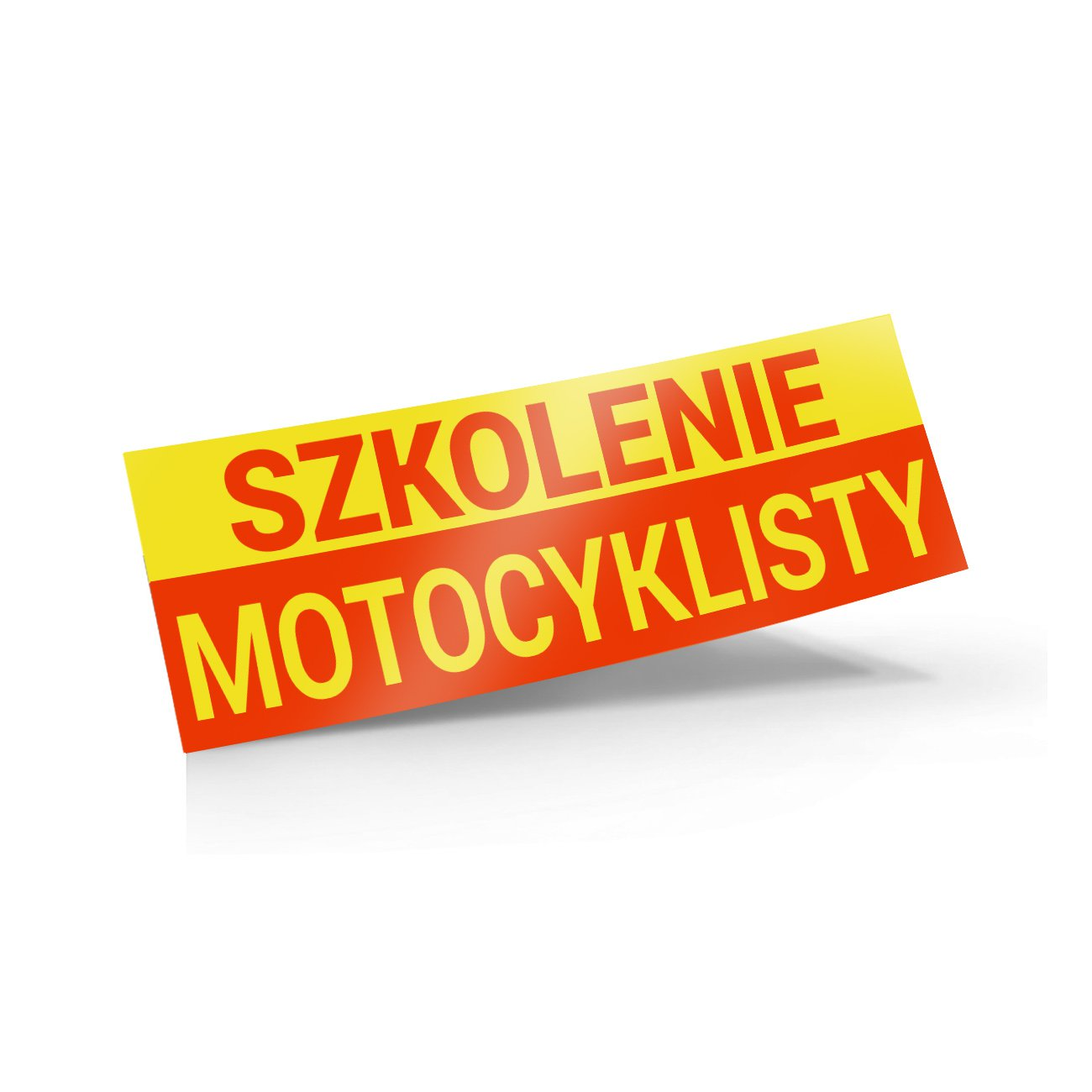 naklejka szkolenie motocyklisty