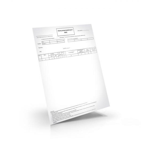 karta przeprowadzonych zajęć