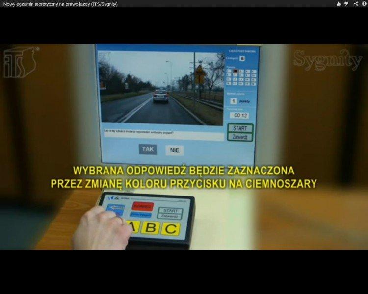 egzamin teoretyczny na prawo jazdy