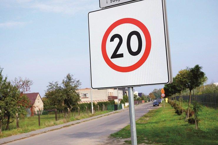 """znak """" ograniczenie prędkości 20 km/h """""""