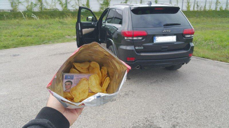 prawo jazdy wygrane w chipsach