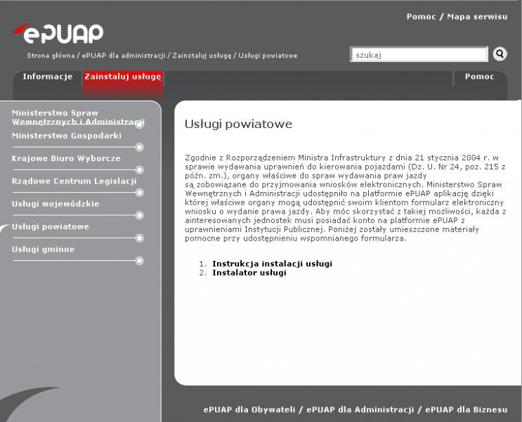 ePUAP strona internetowa