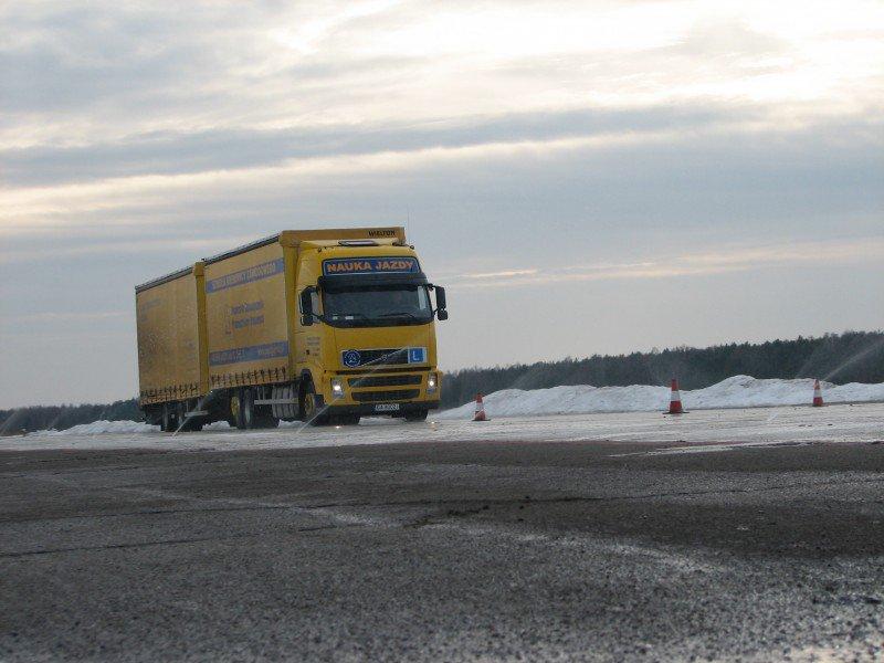 ciężarówka nauka jazdy