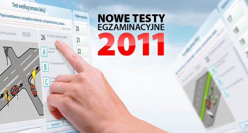 nowe testy egzaminacyjne 2011