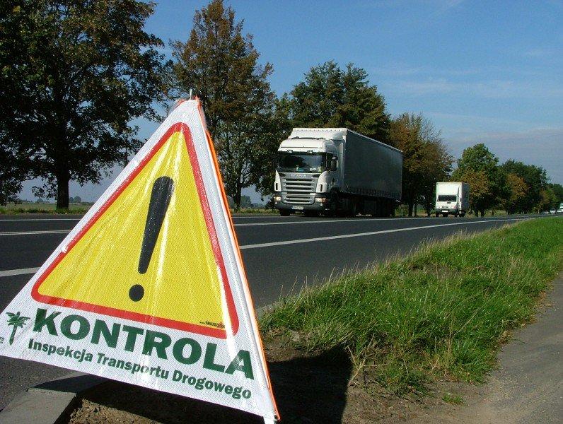 znak KONTROLA Inspekcja Transportu Drogowego