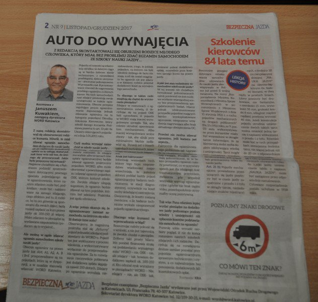 """gazeta """" Bezpieczna jazda """""""