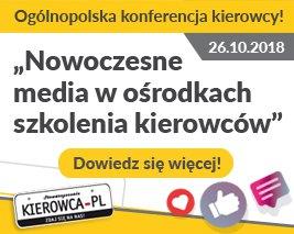 """banner """" Nowoczesne media w ośrodkach szkolenia kierowców """""""