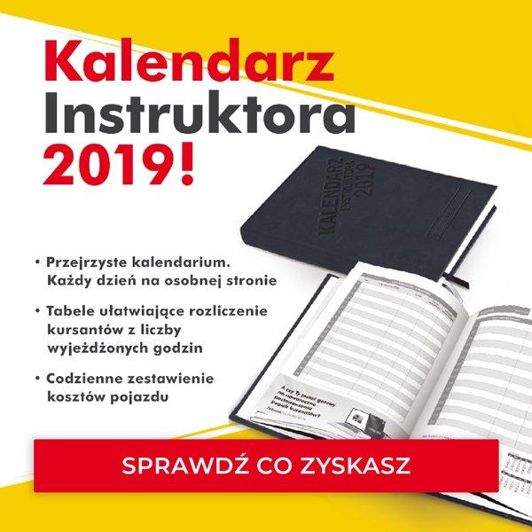 kalendarz instruktora 2019 prawa jazdy