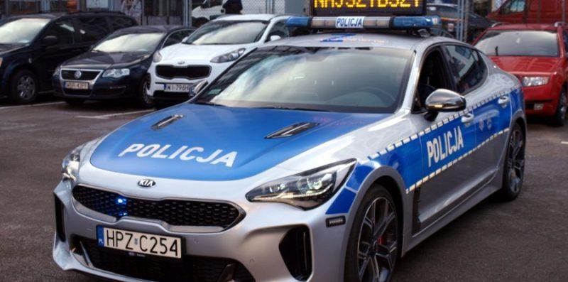 Kia Stinger GT fot.Policja